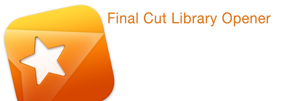 Final Cut Library Opener